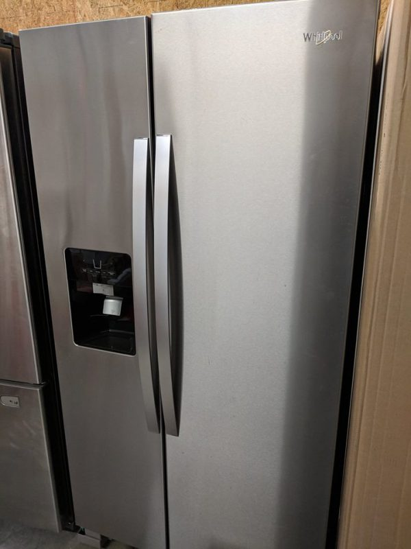 New Whirlpool 24 5 Cu Ft Side By Side Refrigerator With
