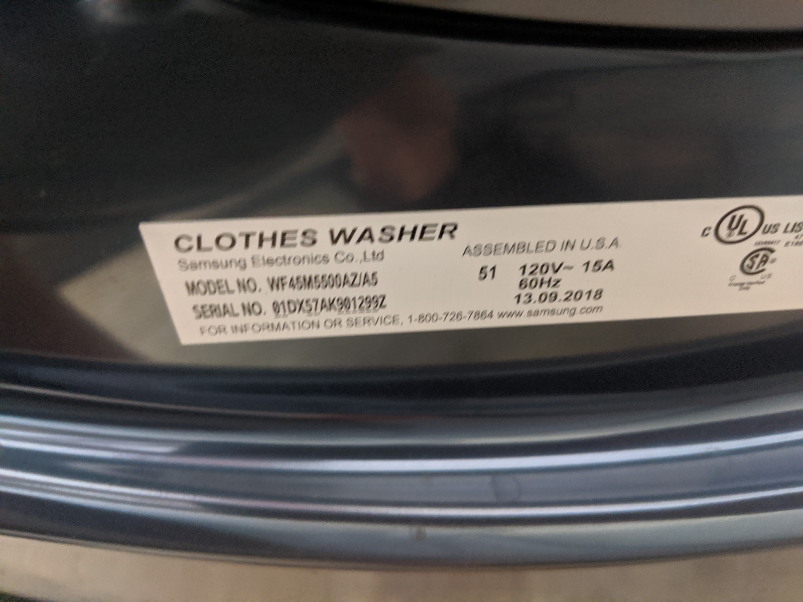 New Samsung 4 5 Cu Ft High Efficiency Front Load Washer